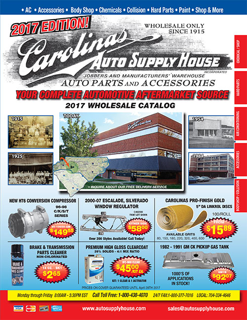 2017 Carolinas Auto Supply House Automotive Wholesale Catalog