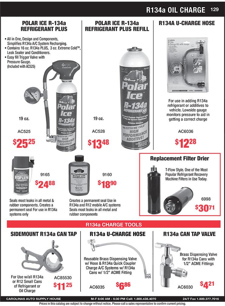 Carolinas Auto Supply House: Parts Catalog - Air Conditioning