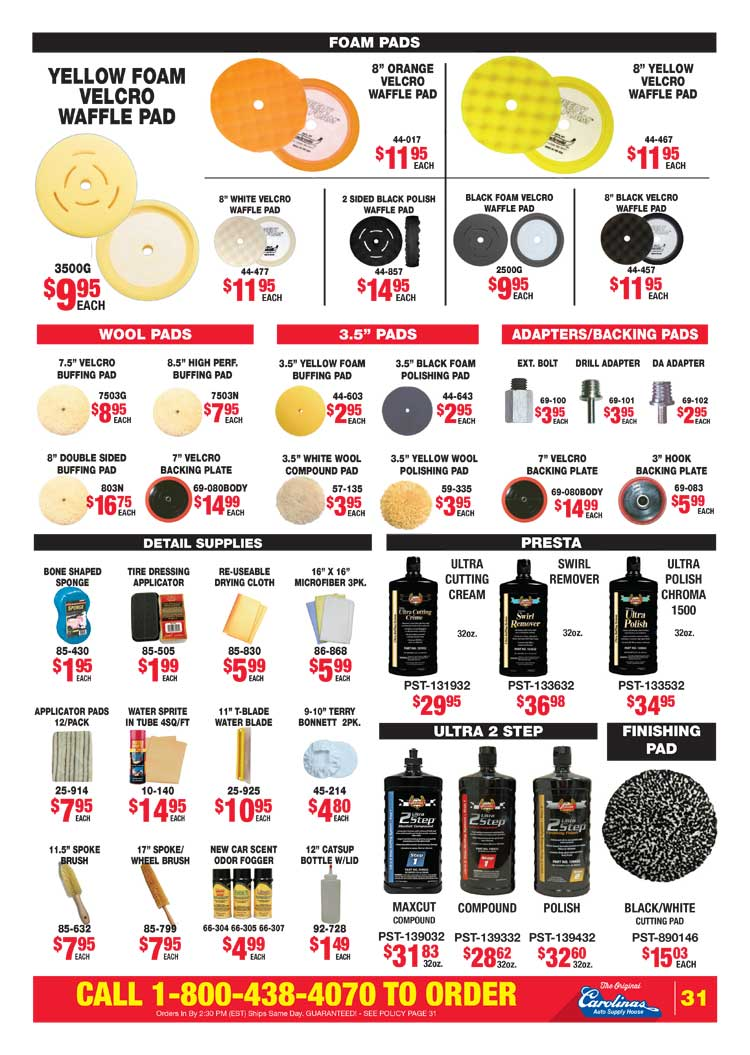 Carolinas Auto Supply House: Circular Specials